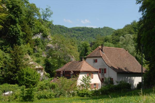 Gärtnerhaus und Mühle beim östlichen Eingang zur Ermitage